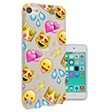 c0396 - Cool Fun Trendy cute kwaii colourful emoji apps emoticons hearts smiley face funny (9) Design Apple ipod Touch 6 Fashion Trend CASE Gel Rubber Silicone All Edges Protection Case Cover