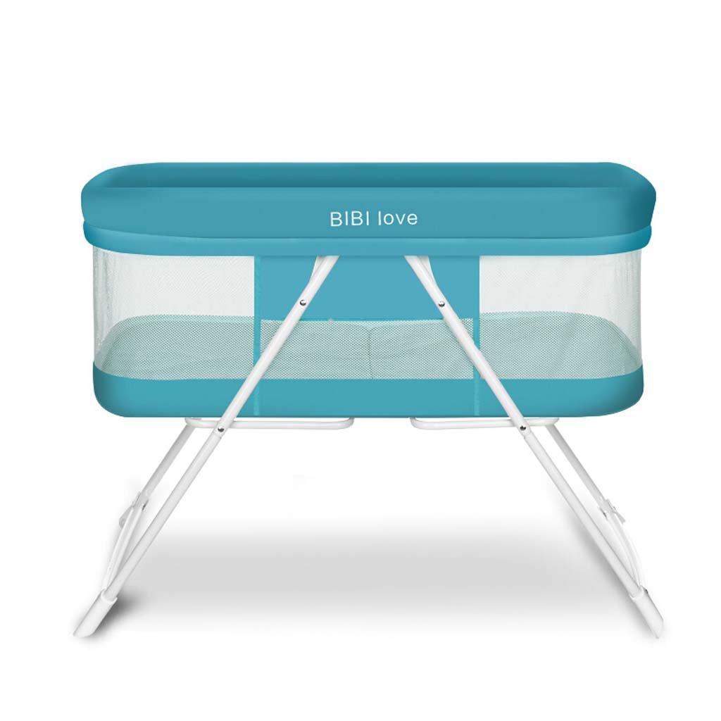 折りたたみ式の自由な設置緑の赤ん坊の揺りかごのベッドポータブルの幼児の多機能の赤ん坊のベッドの布の芸術任意の負荷15 Kg 4色 (色 : D)  D B07DYMPMF5
