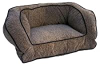 Snoozer 75273 Large Contemporary Pet Sofa, Dark Chocolate/Buckskin