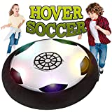 Hover Soccer Ball ,Electric Air Power Soccer Disc for Boys Girls Age of 2, 3, 4,5,6,7,8-16 Year Old, Indoor Outdoor Sports Ball Game with LED Lights for Children Gifts