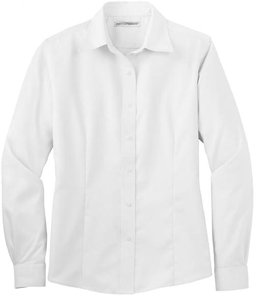 Port Authority Ladies Long Sleeve Non-Iron Twill Shirt L638: Amazon.es: Ropa y accesorios