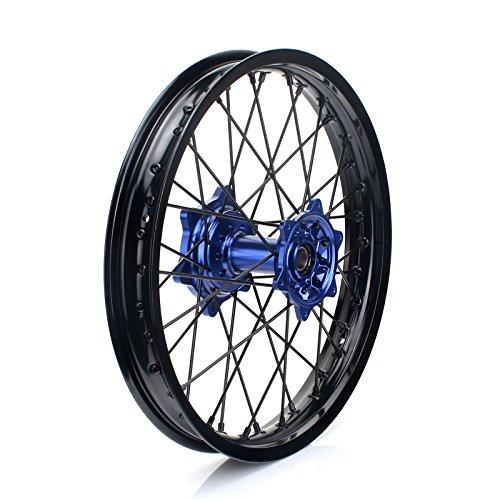 TARAZON 18'' MX Rear Complete Wheel Set Rim Spokes Blue Hub for Yamaha YZ250F YZF250 YZ450F YZF450 2009-2017 by TARAZON (Image #1)