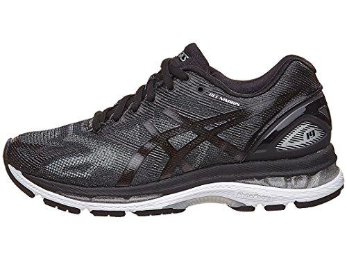 ASICS Women's Gel-Nimbus 19 Running Shoe, Black/Onyx/Silver, 7 M US Online Sports Mesh Gloves