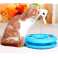 Cat Turntable Toys Cat Moving Mouse Spring Play Ball Bell Toy Interactive Cat Toys
