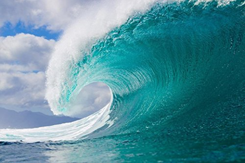 Surfing Big Wave Fabric Cloth Rolled Wall Poster Print