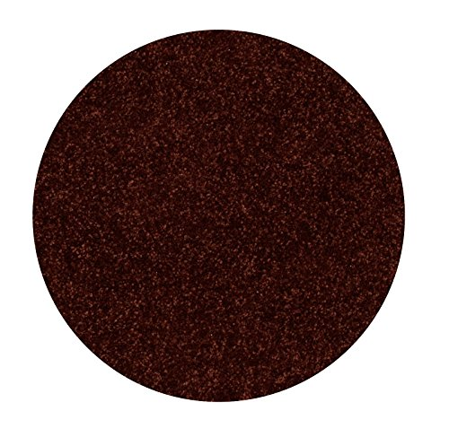 Bright House Solid Color Area Rug, 3' Round, Chocolate