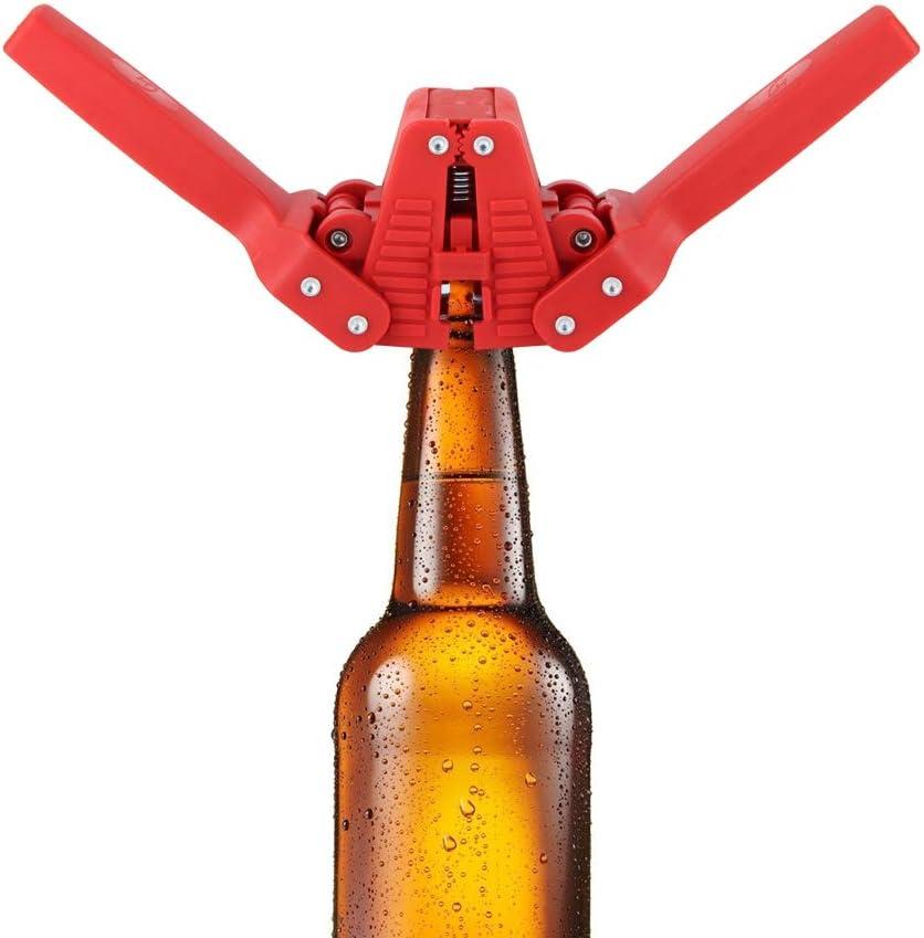 Duokon Herramienta Manual para taponar Botellas, taponadora Manual de plástico de Doble Palanca para Botellas de Cerveza Manual para elaboración casera, sellador de Botellas