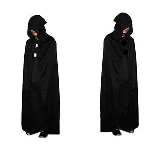 689e3b338b Image Unavailable. Image not available for. Color  vimans Unisex Cosplay  Shawl Wraps Black Hooded Cape Cloaks ...
