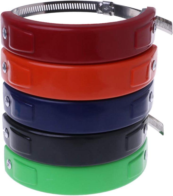 Maze MA Accessoires de moto Universel 100 mm-140 mm Coque de protection ovale pour pot d/échappement Noir