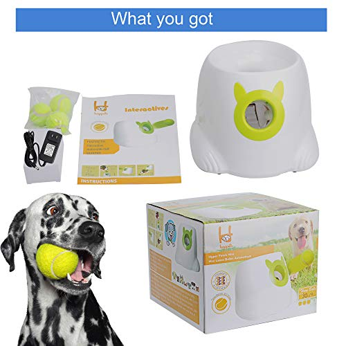 LUCKYERMORE Automatic Dog Ball Launcher Thrower Interactive Throwing and Fetch Dog Toy Mini Tennis Balls for Dog Indoor Outdoor Playing by LUCKYERMORE (Image #5)