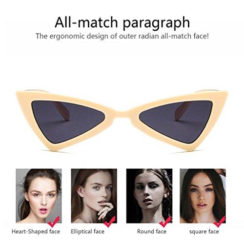 viaje Gafas de de sol mujer UV400 de gato de para diseño sol triángulo de ojo gafas ZZrqgwFdx