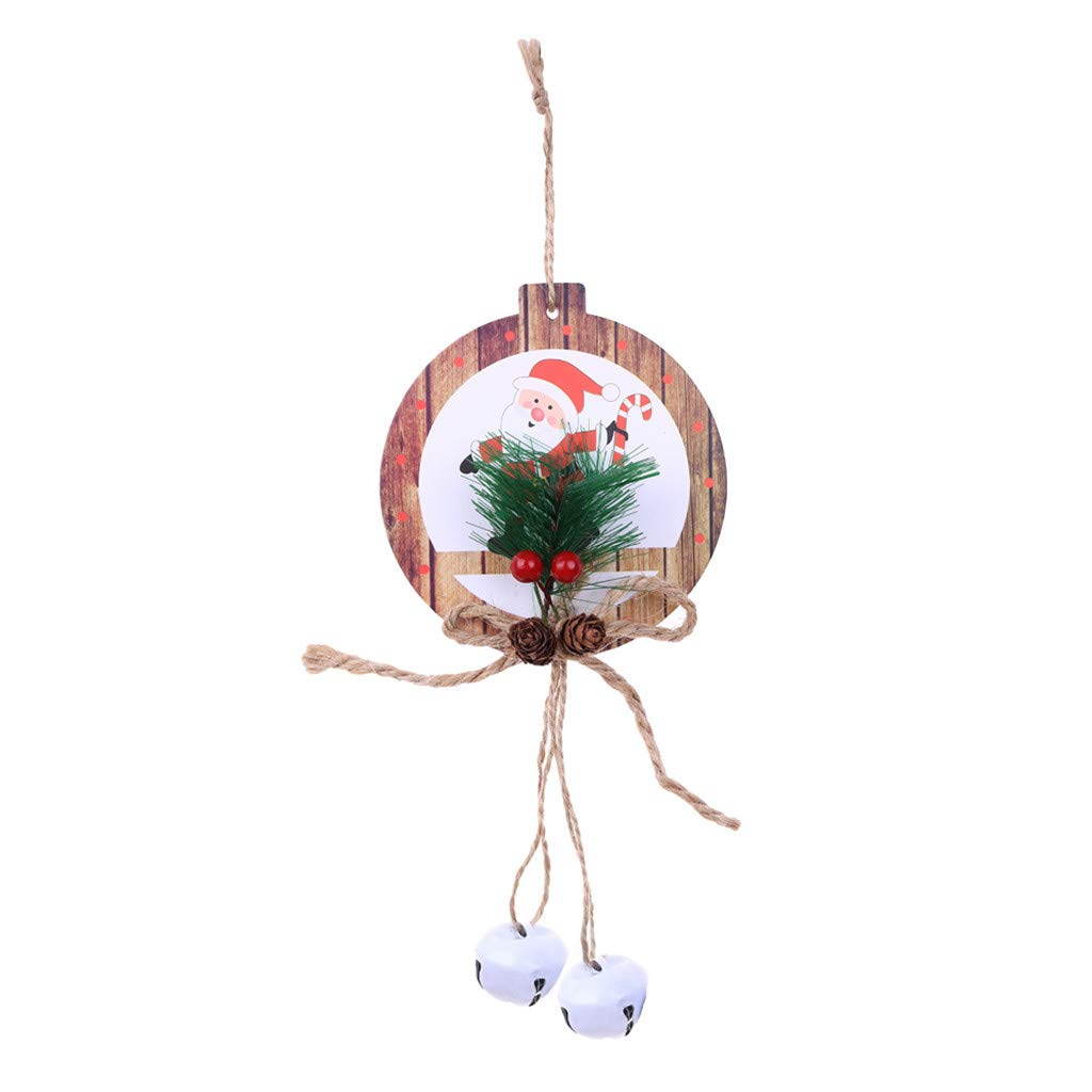 Mome2019 Christmas Ornament  1PC Christmas Decor Gifts Pendant Tree Hanging Ornament Party Home Wall Door Decoration-Gift for Children Friend (D)