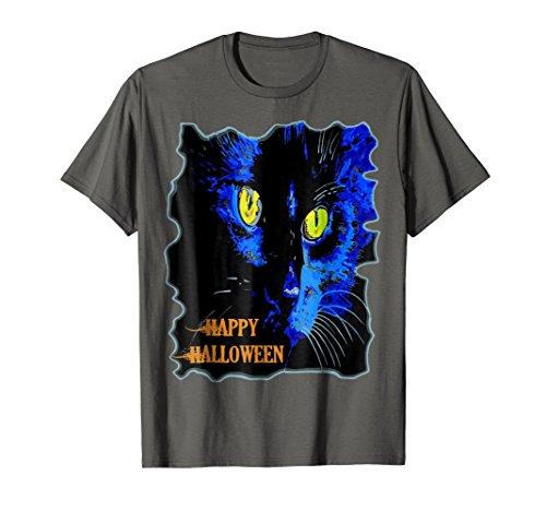 Cute Happy Halloween Moonlight Black Cat Vector T-Shirt -