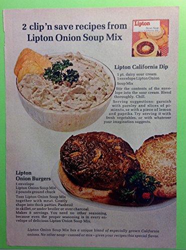 Original 1960s Ad Lipton Onion Soup Mix