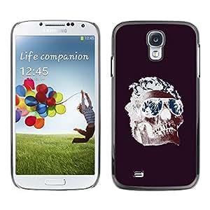 """For Samsung Galaxy S4 Case , Frescos Shades Llamas cráneo púrpura de la Muerte"""" - Diseño Patrón Teléfono Caso Cubierta Case Bumper Duro Protección Case Cover Funda"""