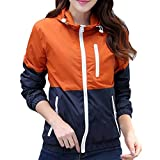 BINGKA Womens Windbreakers Light Weight Outdoor Hooded Sun Protect Windbreaker Sports Outwear Jacket