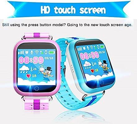 Smart Kids Reloj Teléfono Q750 Q100 WiFi pantalla táctil SOS Chat ...