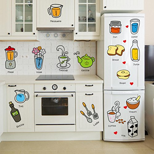 TAOtTAO New Kitchen Letter Removable Wall Stickers Mural Decal Home Decor