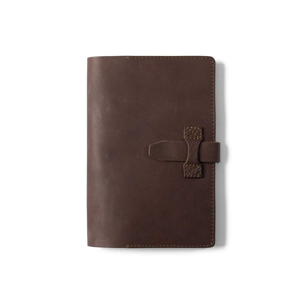 Rugged Mercantile Large Leather Journal Cover - Dark Briar by Rugged Mercantile