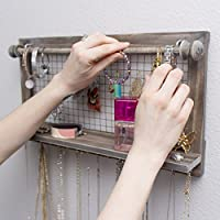 Jewelry Organizer with Bracelet Rod