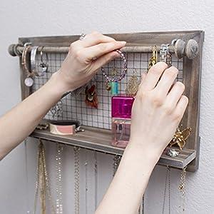 Jewelry Organizer with Bracelet Rod