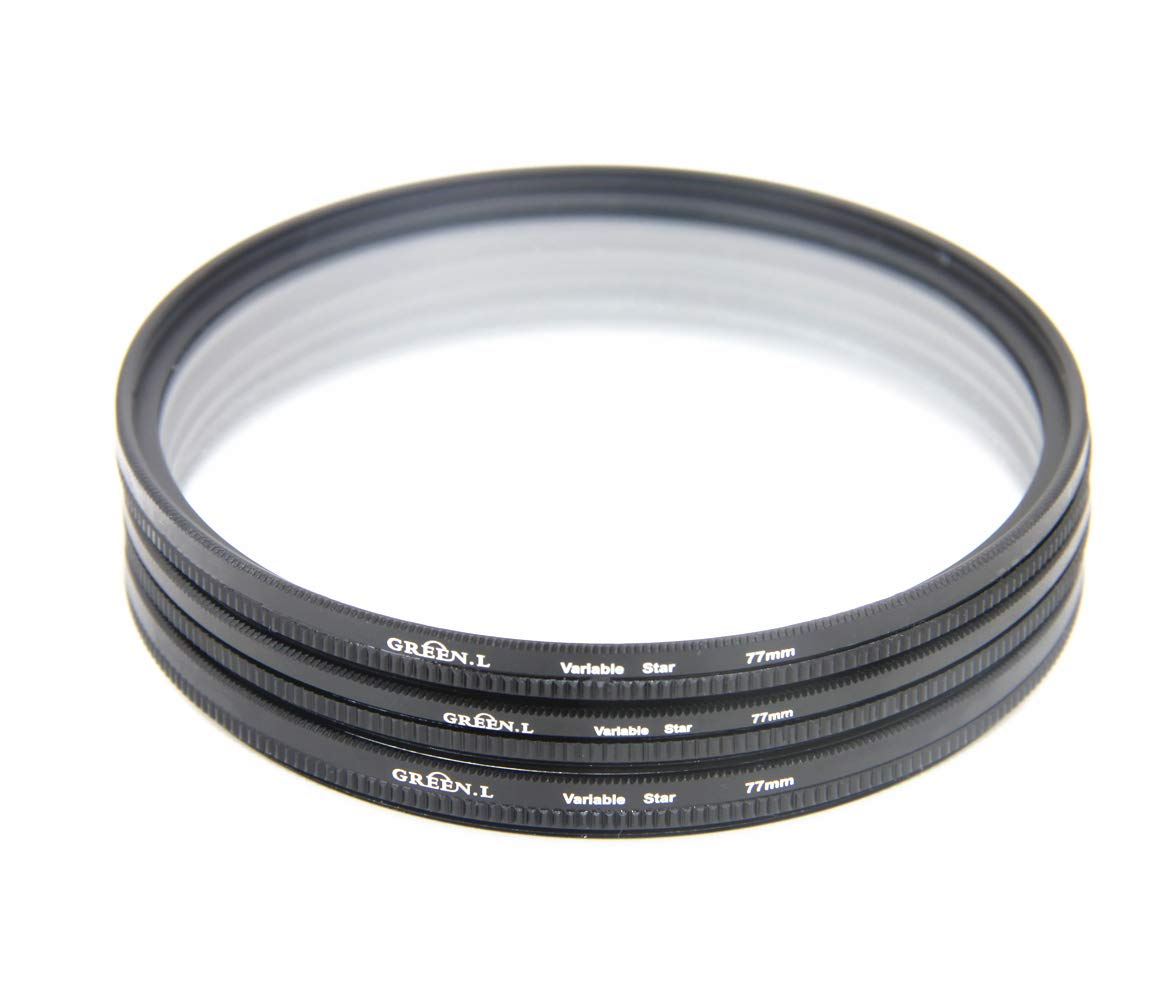 GREEN.L Star Filter Kit 72mm 4 Points 6 Points 8 Points Slim Adjustable Star Filter with Filter Pouch Cleaning Cloth