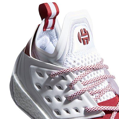 Adidas Sm Harden Vol. 2 Mm Schoen Basketbal Van Mensen Wit-overwinning Rood-grijze