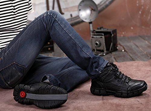 Dayiss® Herren Lederschuhe Knöchelschuhe Stiefeletten Ankle Boots Chukka Boots WinterSchuhe Schwarz