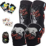 Simply Kids Innovative Soft Knee and Elbow Pads with Bike Gloves I Toddler Protective Gear Set w/Mesh Bag I Comfortable & CSPC Certified I Bike, Roller-Skating, Skateboard Knee Pads for Kids Child Boys Girls