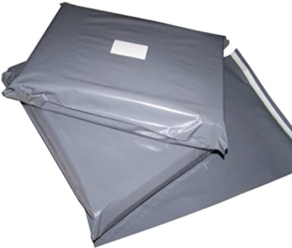 f0232cfc3b36 10 Large Grey Colour Plastic Polythene Peel + Seal Mailing Postal Bags XL  Size 28 x