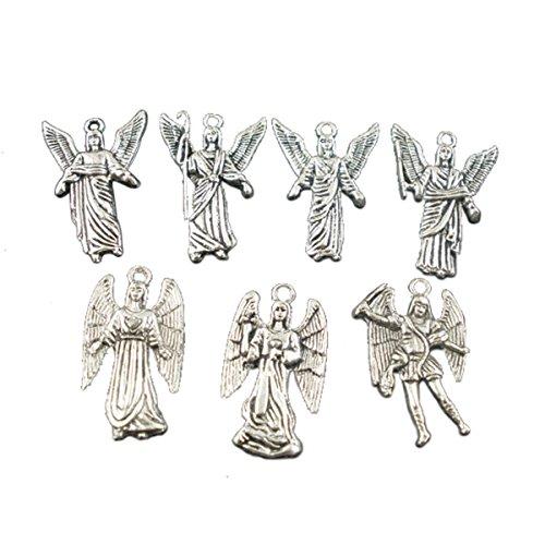 Angel Pendant (Housweety 40PCs Silver Angel Charms Pendants)