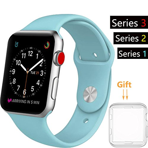 light blue silicone watch straps - 8