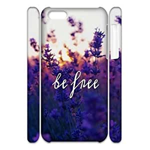 Be Free Brand New 3D Cover Case for iphone 5c,diy case cover ygtg581599