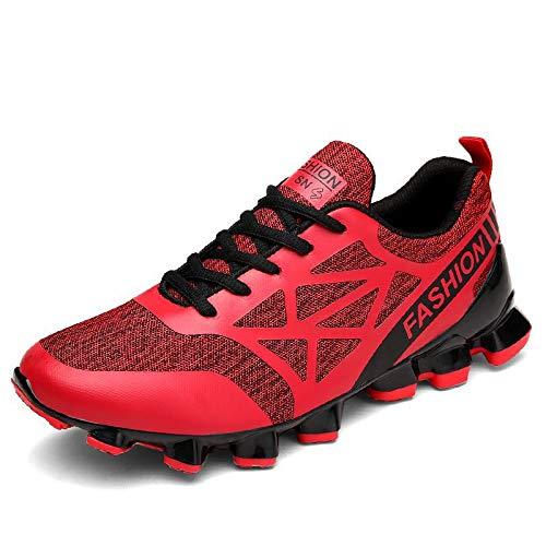 Hasag Calzado Deportivo New Men's Running Shoes Transpirable A red