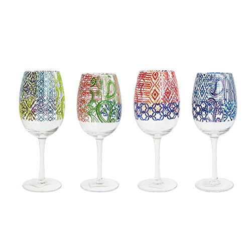 Tracy Porter Wine Goblets (Set of 4), Multicolor ()