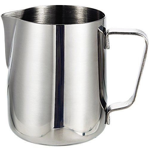 Milk Frothing Pitcher | IDEALHOUSE 12 oz / 350 ml Japanese Type Thicken 0.8mm Stainless Steel Conical Jug Cup for Barista Cappuccino Espresso Coffee Cafe Latte (Conical Jug)