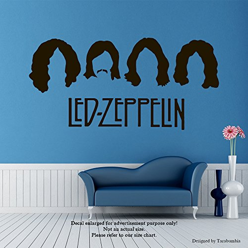 Led Zeppelin Wall Decals Legends Of Music Stickers Decorative Design Ideas For Your Home or Office Walls Removable Vinyl Murals EC-1116 (Best Led Zeppelin Tattoos)