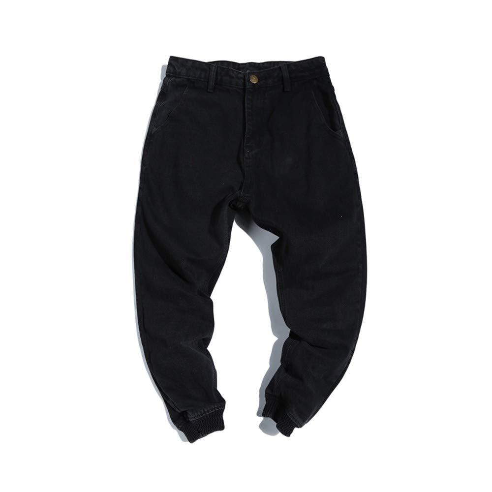 EVEORSSRA Jeanshosen Herbst Street Jeans Füße Haren Hosen Flut Männer Shorts Super Fire Pants