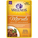 Cheap Wellness Healthy Indulgence Natural Grain Free Wet Cat Food, Morsels Chicken & Salmon, 3-Ounce Pouch (Pack Of 24)