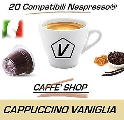 "Cápsulas compatibles Nespresso, 20 Cápsulas Caffè Shop Mezcla ""Cappuccino Vainilla"" Linea Espresso"