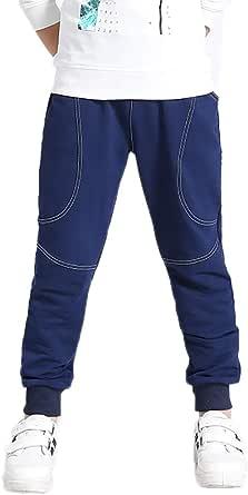Furpazven Pantalones para Niño Pantalón de Deporte Niño Pantalón Largo Deportivo de Felpa con Cintura Elástica con Cordón para Niños de 4-12 Años