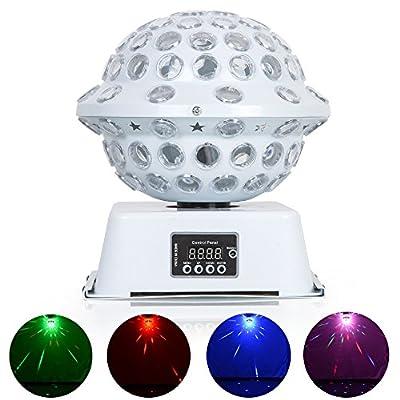 Disco Lights, URPIRE 3W 6 LEDs Strobe Lights Crystal Magic Rotating Mini RGB DJ Stage Lighting for Home, Holiday Celebration, Kids Bedroom, Birthday Party, KTV, Bar, Wedding Decorations