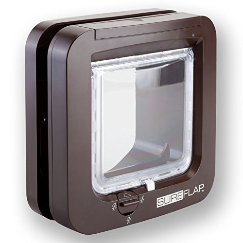 SureFlap Microchip DualScan Cat Door - Brown