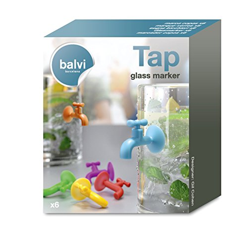 Balvi/-/Marque-Verres/Tap/x6/Silicone