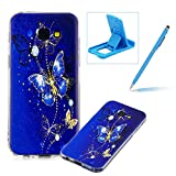 Soft TPU Case for Samsung Galaxy A5 2017 A520,Shock-Absorbing Rubber Case for Samsung Galaxy A5 2017 A520,Herzzer Stylish Slim Fit Golden Butterfly Pattern Shockproof Scratch Resist Flexible Silicone Back Cover