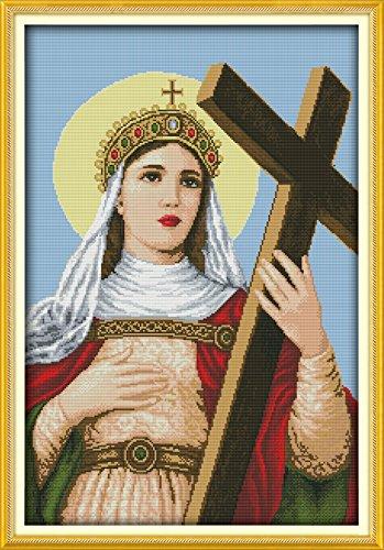 Chreey Kit Punto Croce, Serie di Madonna, Motivo: La Madonna, Dimensione: 44cm X 62cm