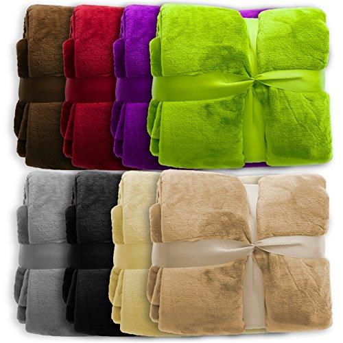 Polyester Beige Xxl 150x200 Plaid Et Glory nbsp;couleurs En Couverture Douce Pura Violet Cm Très Casa nbsp;tailles Disponible 2 8 6Zqgn
