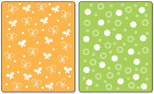 Sizzix Textured Impressions Embossing Folders 2/PK - Butterflies & Flowers Set by Stephanie Barnard by Sizzix