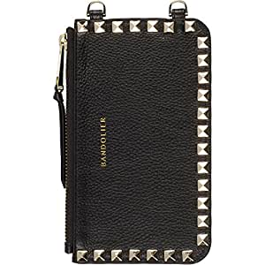 Bandolier - Sarah Gold - Black Leather Pouch - Gold Studs and Hardware