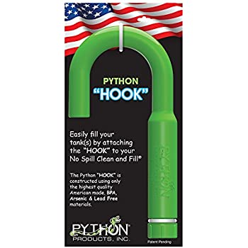 Python Hands-Free and Spill Free Aquarium Hook, Green